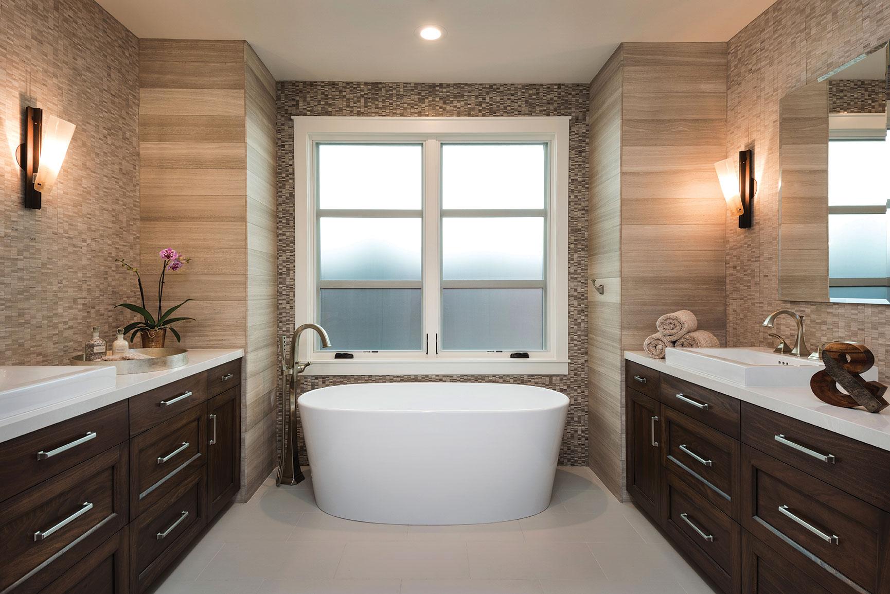 stand-alone sculptural tub bathroom in la jolla coastal kid-friendly remodel
