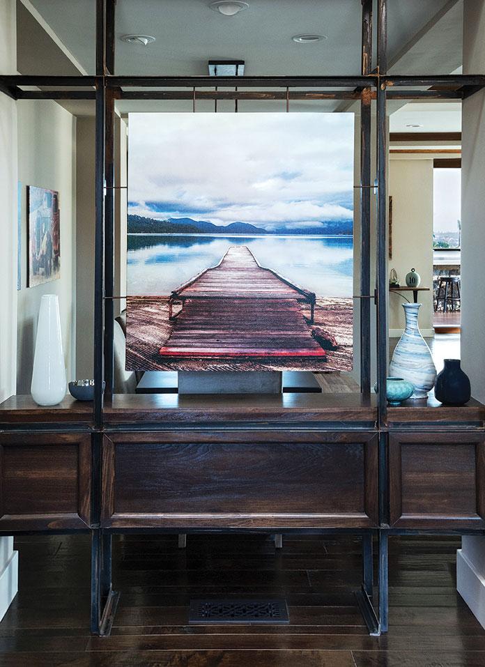 art installation in a La Jolla coastal family-friendly remodel