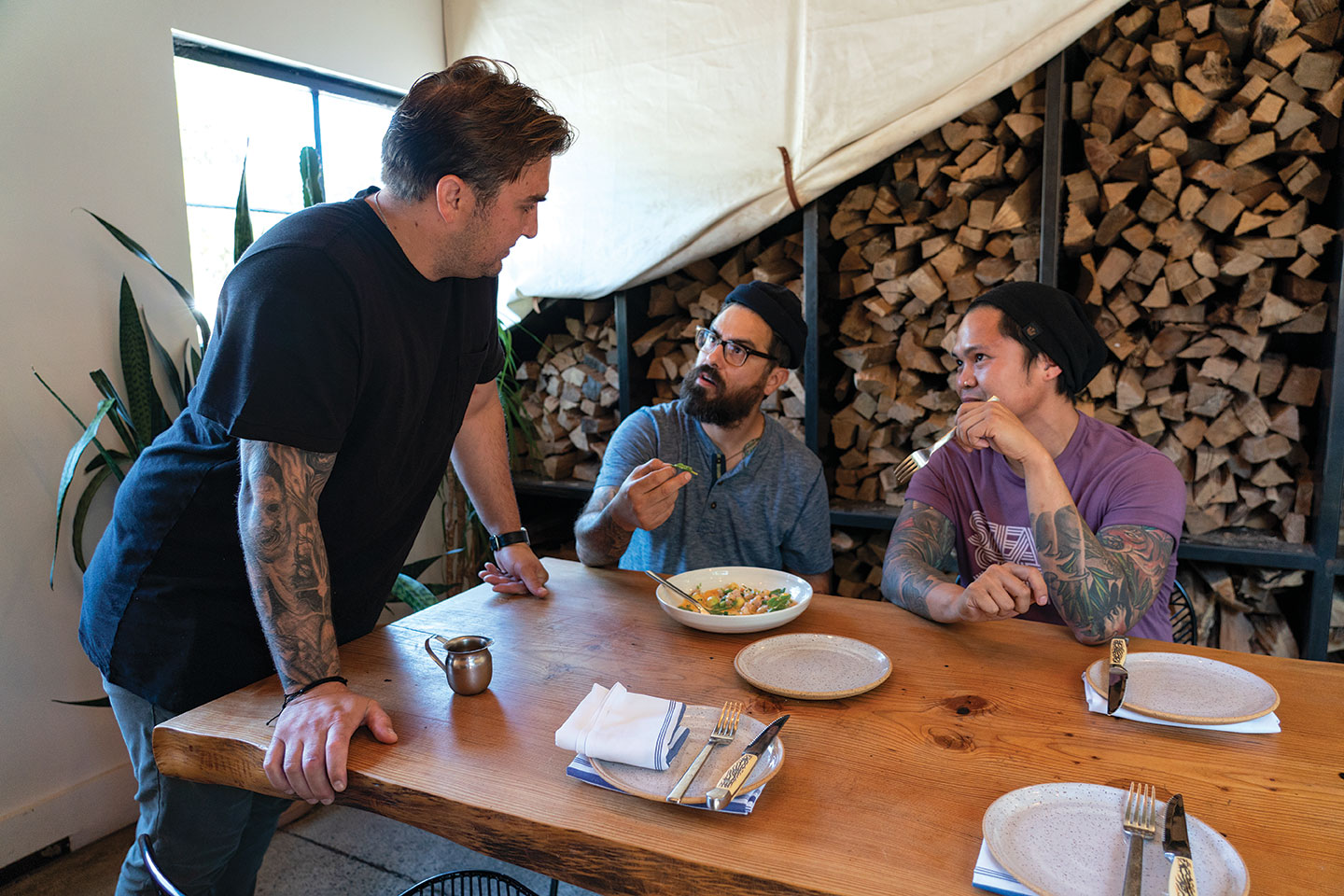 San Diego Chef Andrew Santana eats at Campfire in Carlsbad