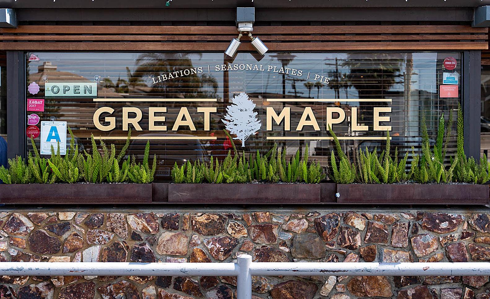 San Diego Chef Deborah Scott eats at San Diego restaurant Great Maple