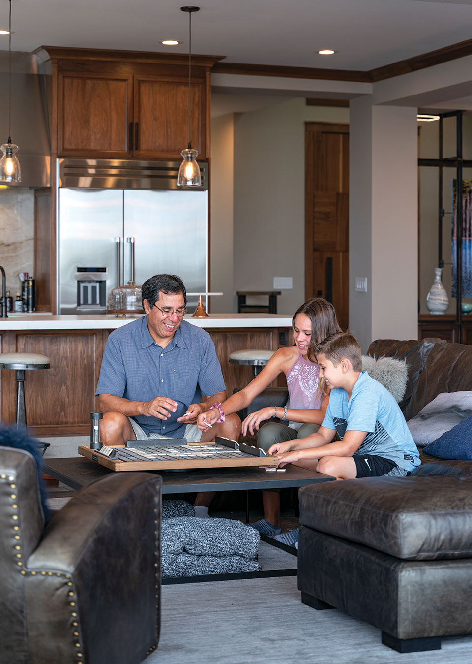 La Jolla coastal family-friendly remodel with space for Scrabble