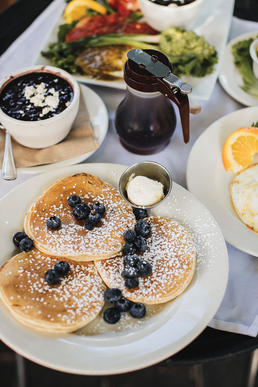 Pancakes at Claire's on Cedros in San Diego