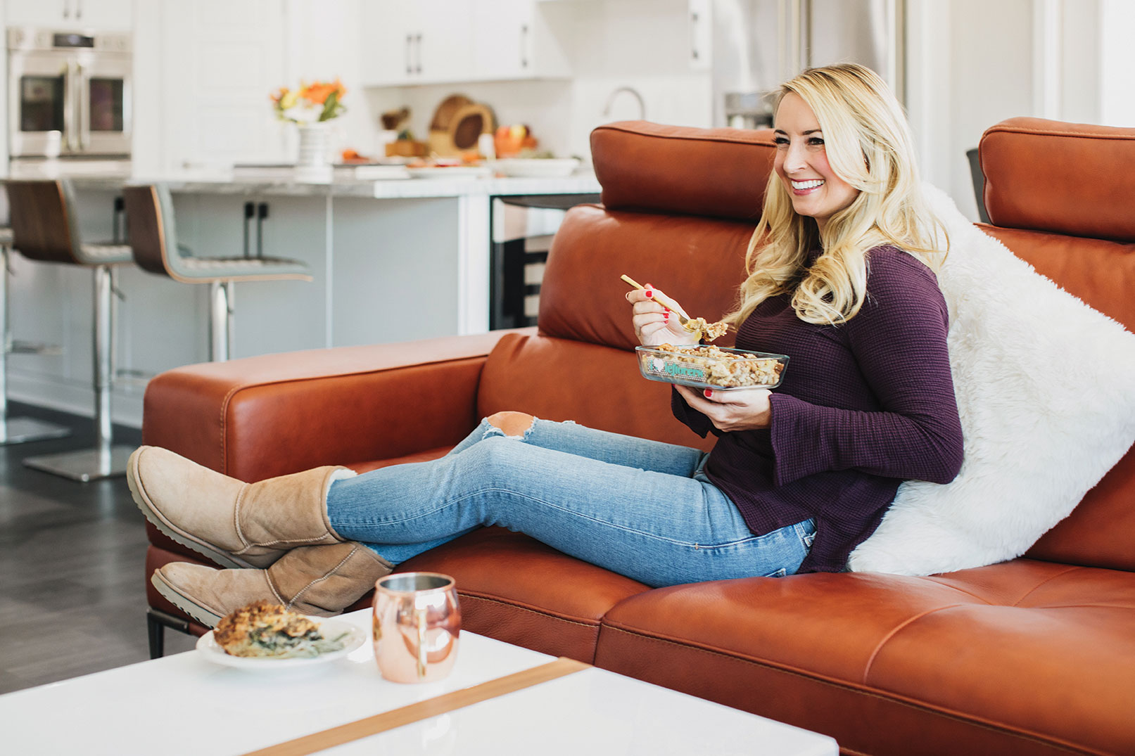 Whitney Bond with revamped Thanksgiving leftovers