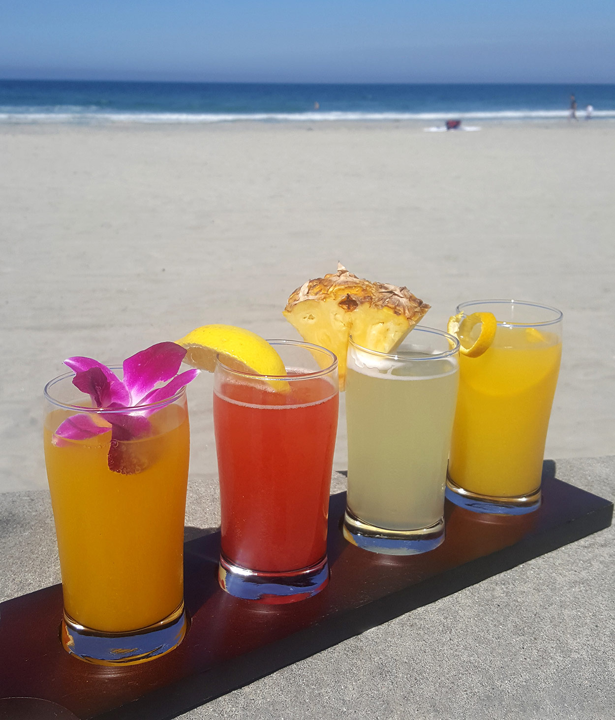 San Diego Restaurant Week 2019 Chef Bernard Guillas mimosa flight at the shores san diego la jolla restaurant
