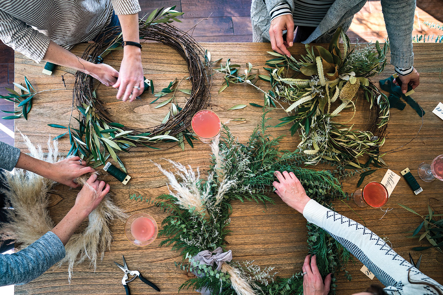 DIY wreath making party Native Poppy Natalie Gill