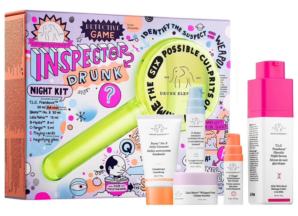 beauty gift guide holiday drunk elephant inspector drunk night kit love olia majd
