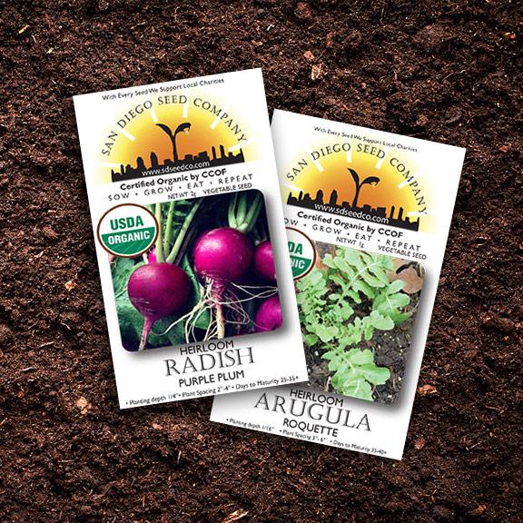 garden gift guide epic gardening kevin espiritu san diego seed company radish arugula organic seeds