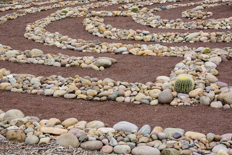 DIY landscape labyrinth stones meditation
