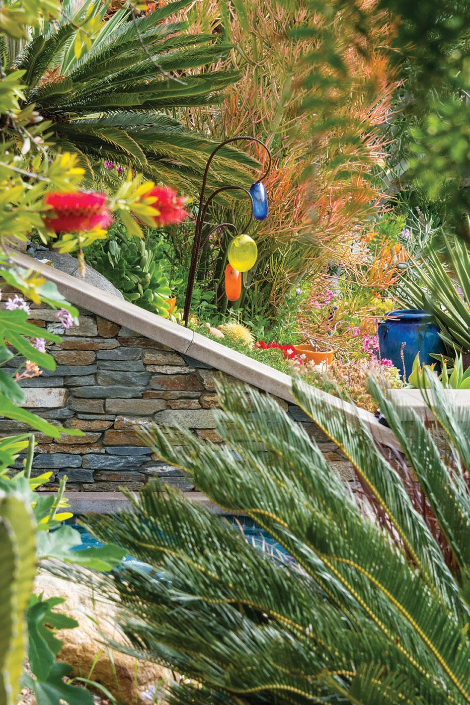 DIY landscape garden glass sculpture