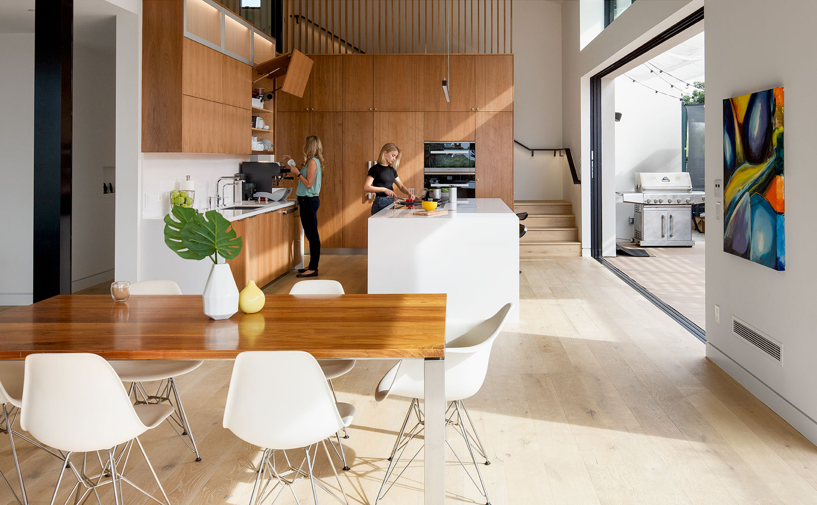 green home design sustainable LEED architecture kitchen smart kitchen cabinets