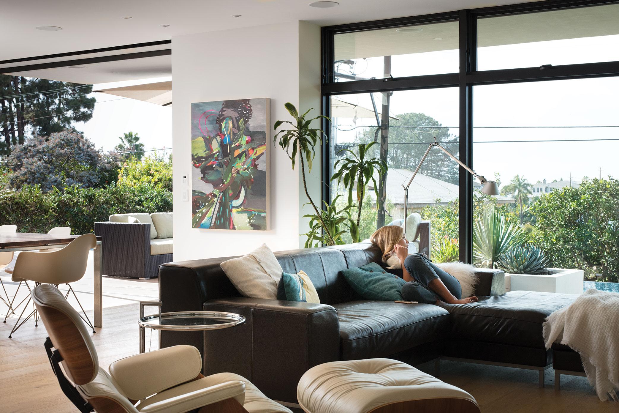 green home design LEED great room indoor outdoor living