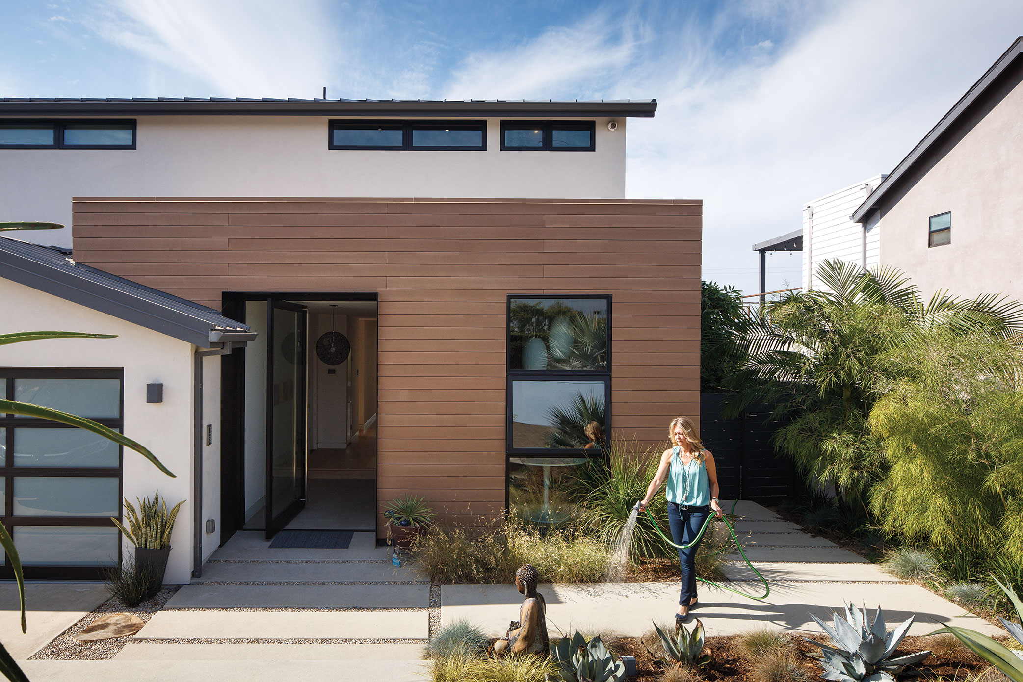 green home design LEED certified platinum resysta cladding sustainable