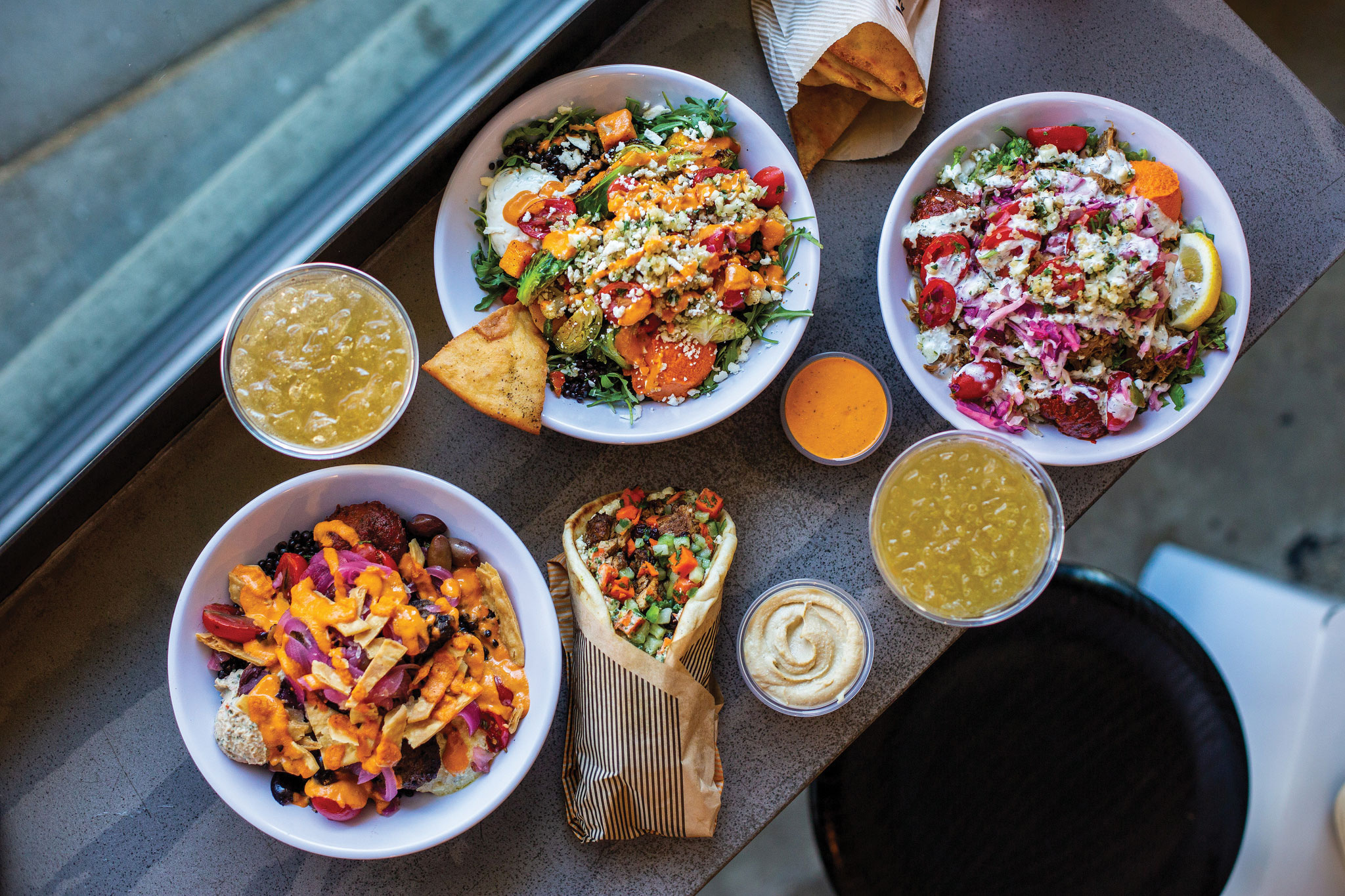 CAVA San Diego dining bowls wraps dips