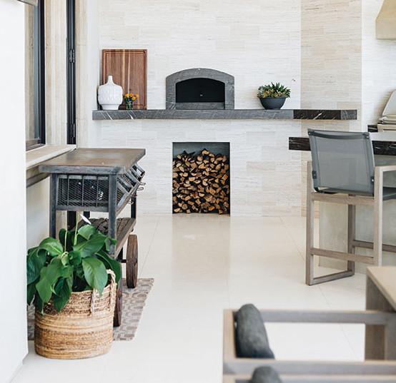 Italian home design pizza oven