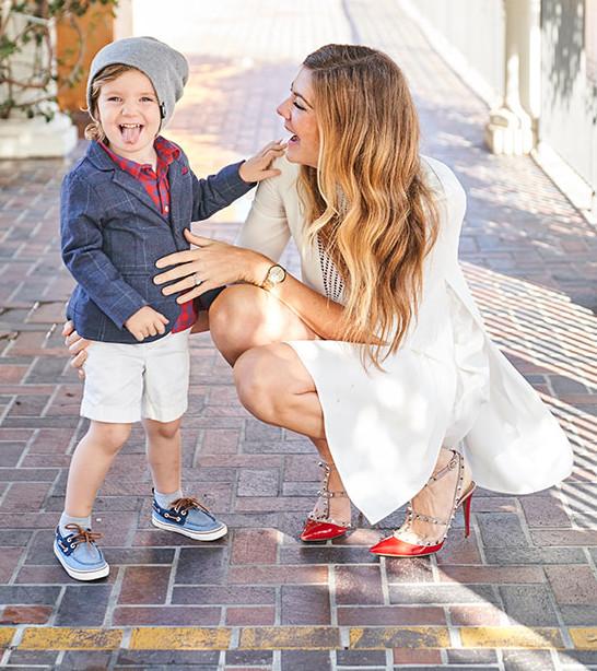Stefanie Bales red valentino shoes