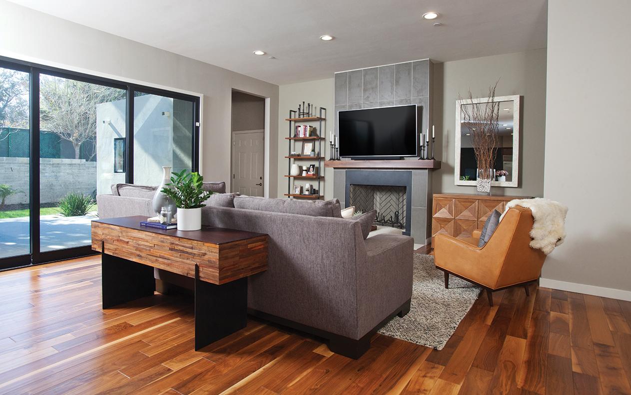Capricorn zodiac style design Hope Pinc living room