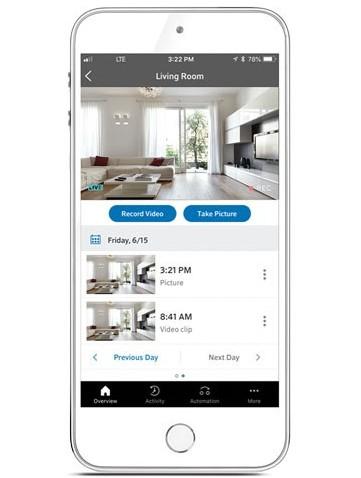 smart home tech cox app monitoring camera