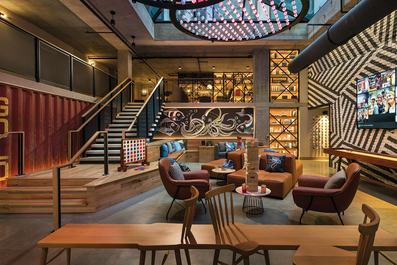 Moxy San Diego hotel design marriot jenga