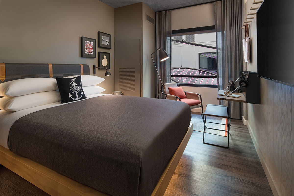 Moxy San Diego guest rooms hotel marriot design