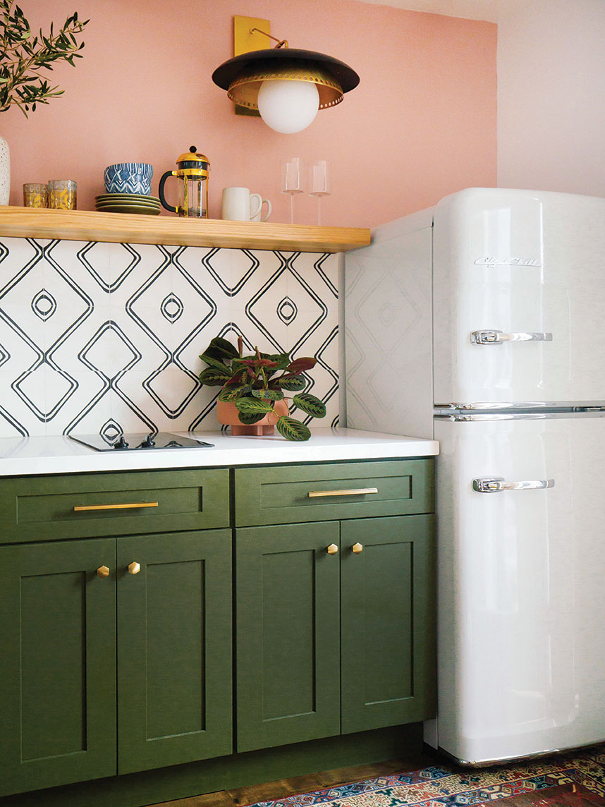 statement appliances kitchen big chill fridge
