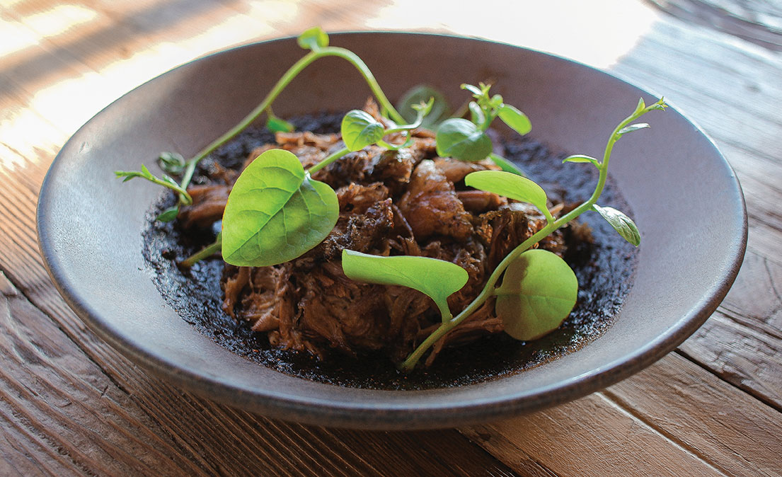 Fauna Restaurante at Bruma Valle de Guadalupe lamb dish dining mexico travel baja