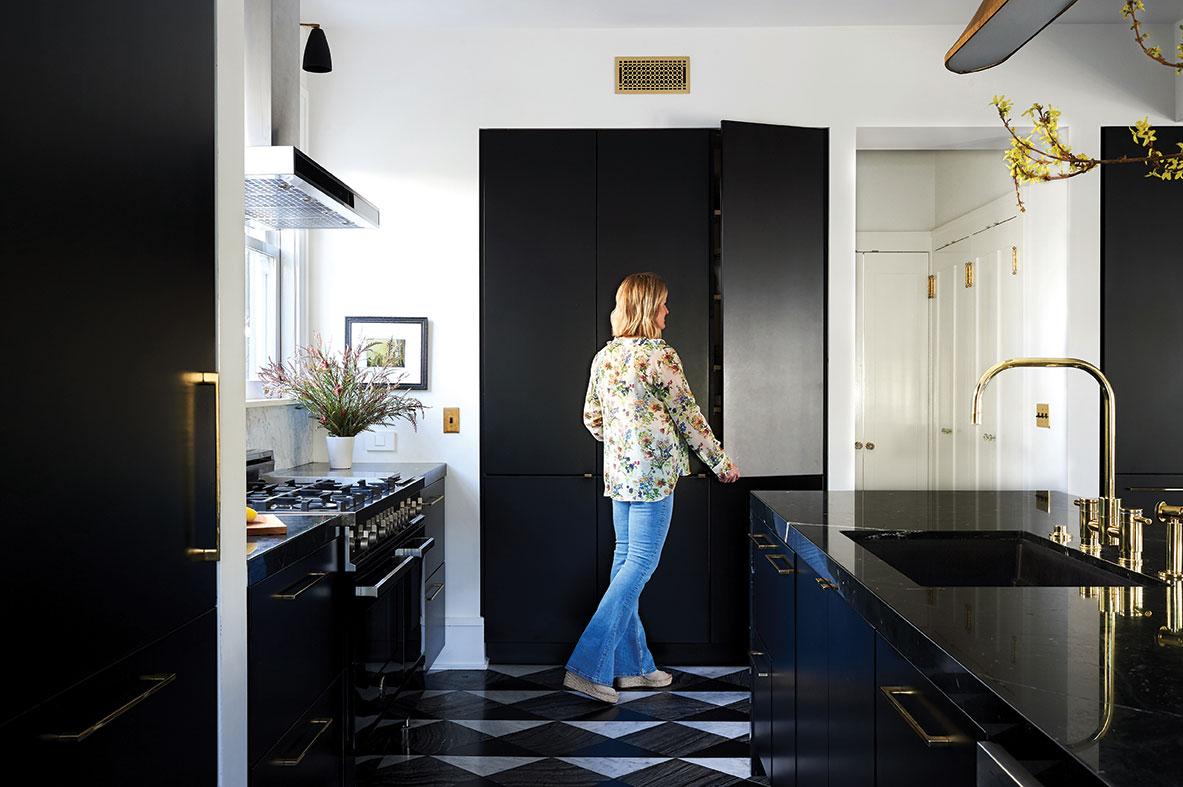 black kitchen interior designer Kristin Lomauro-Boom