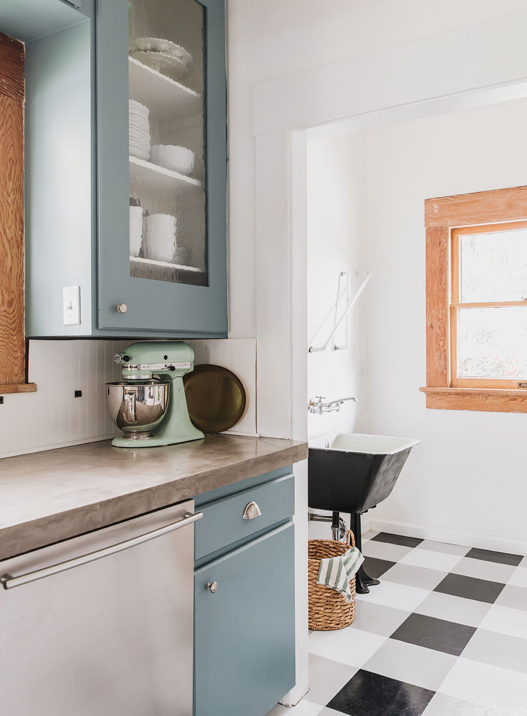 retro sink utility room DIY kitchen