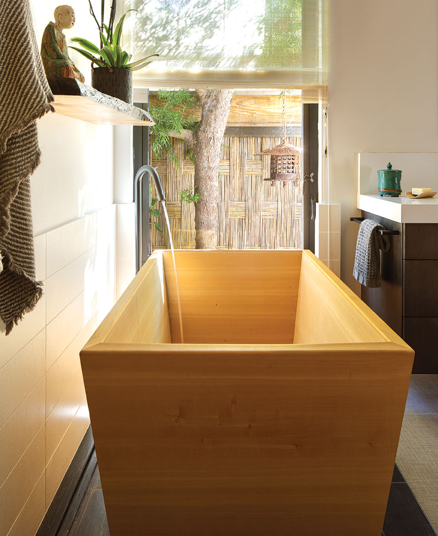zen bathroom asian japanese ofuru soaking tub cedar