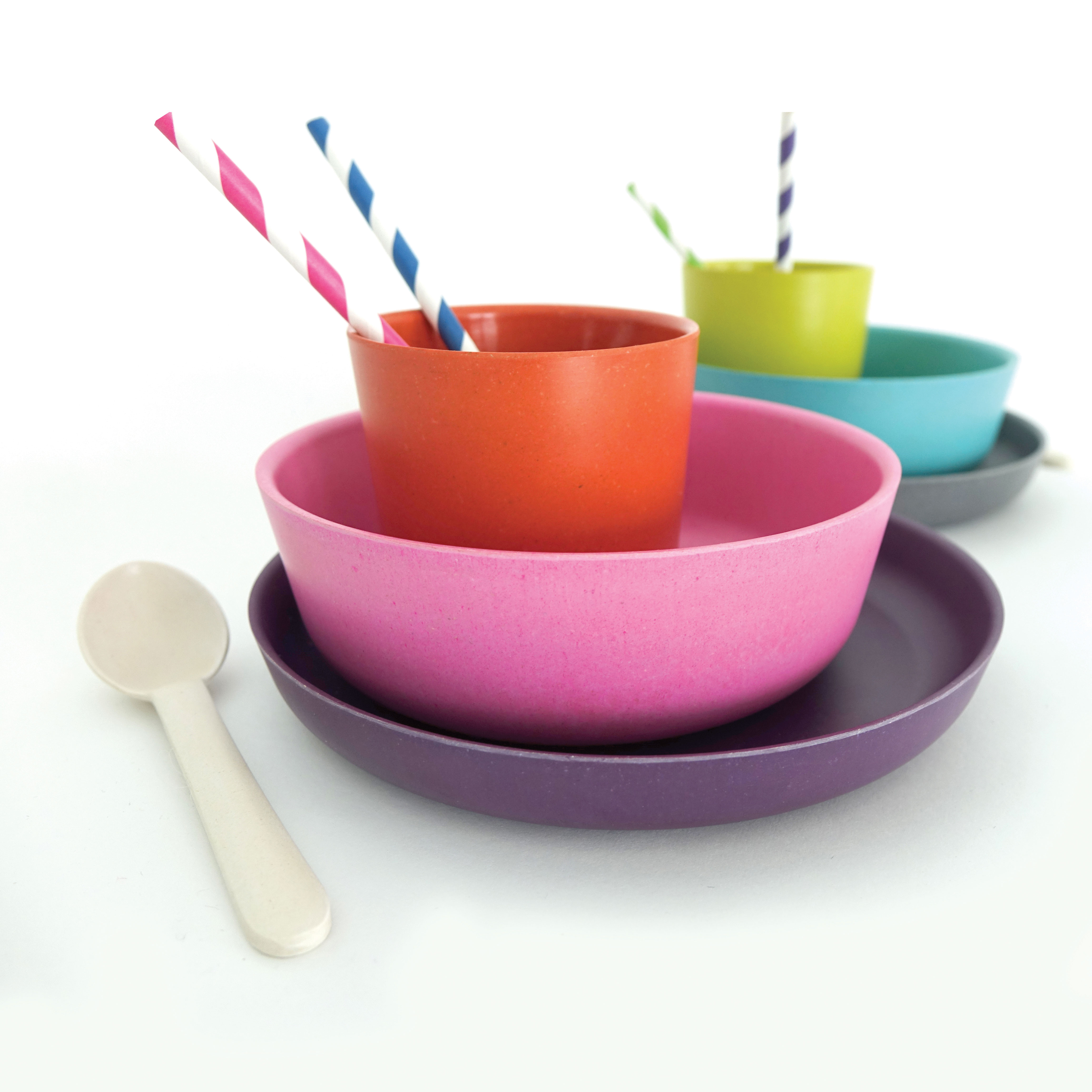kait schulhof san diego sustainability bamboo kids dinner set bowl cup plate straws spoon