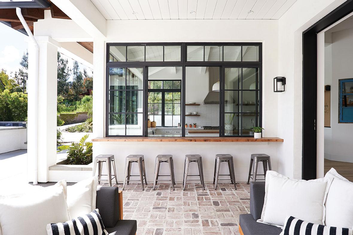 DIY kitchen pass through window