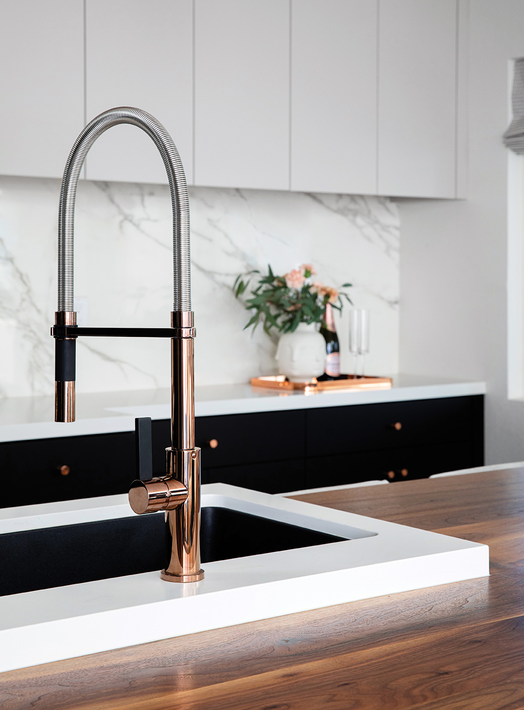 rose gold faucet kitchy crouse small kitchen