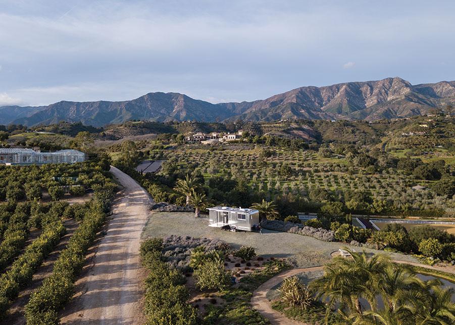 Trailer aerial view santa barbara mountains