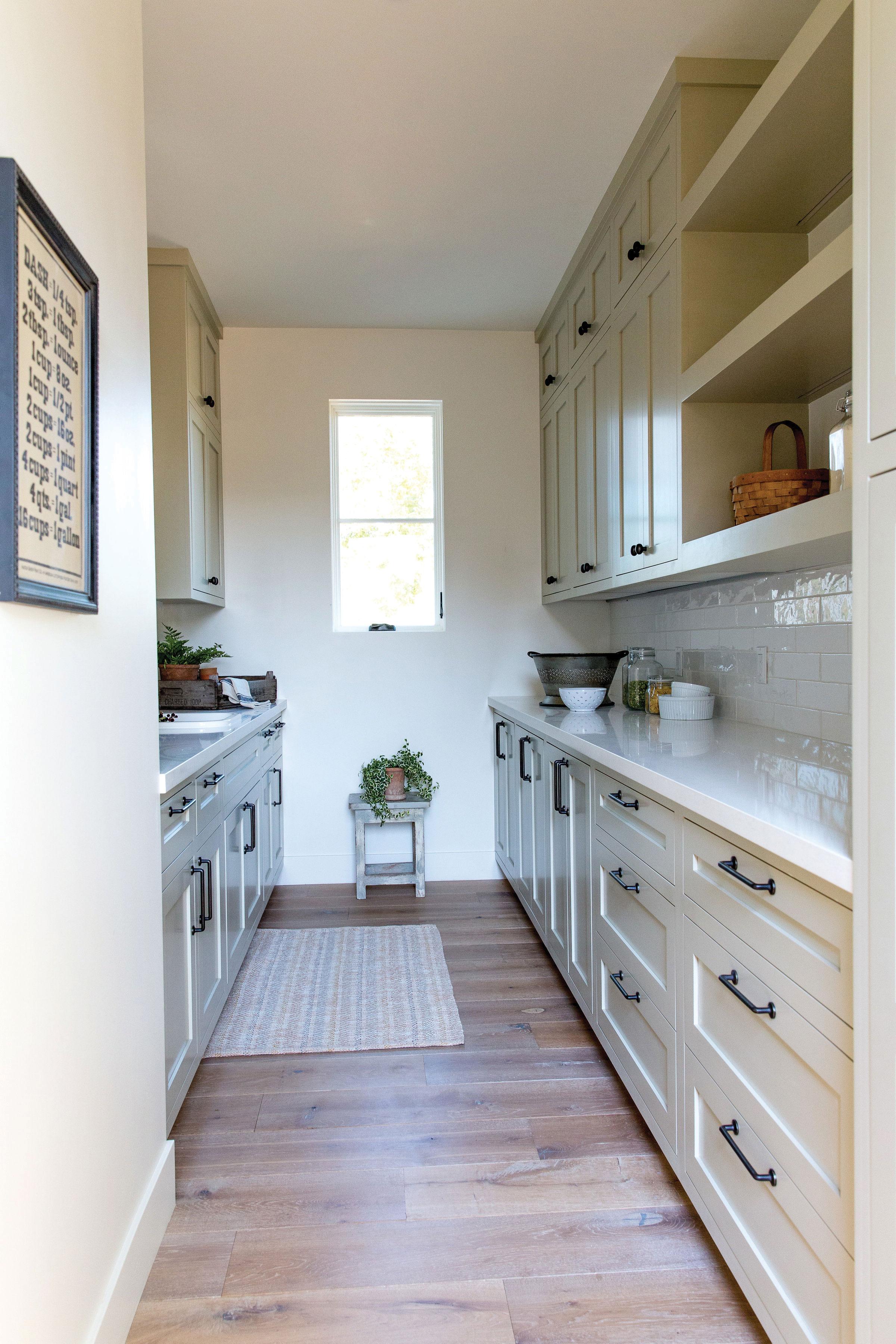 modern farmhouse kitchen butler's pantry dirty kitchen