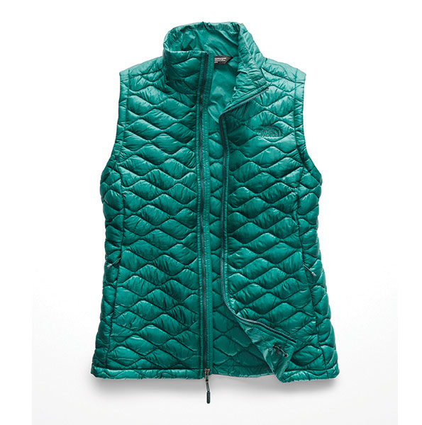 the north face womens thermoball vest in everglade