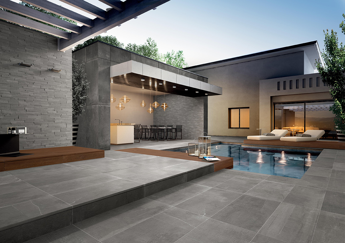 outdoor tile pool