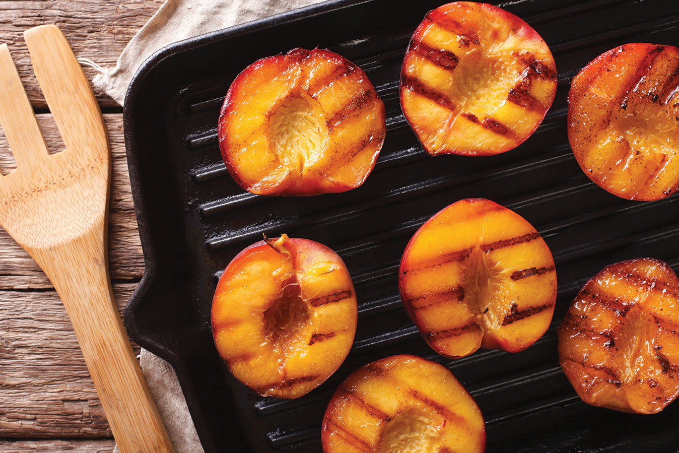 grill peaches grilling grilled