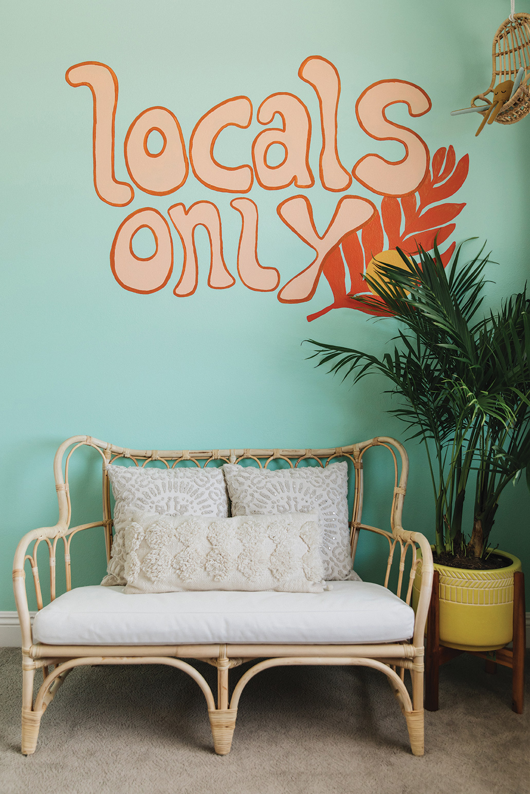 wall decor mural decal hand lettering locals only