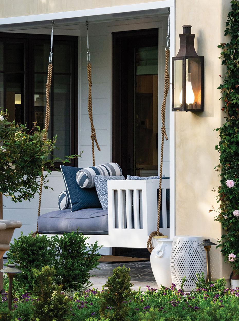 porch swing formal garden
