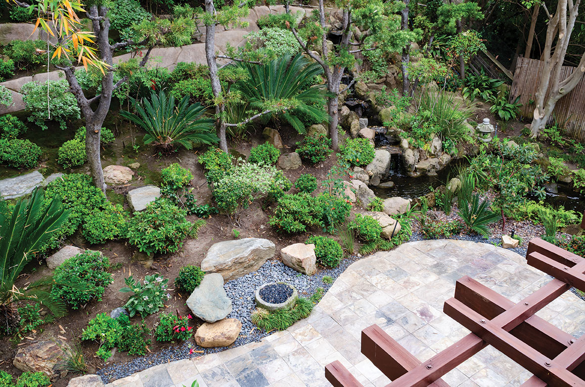 zen landscape japenese garden san diego waterfall terraces
