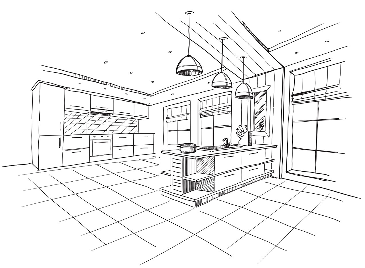 NKBA San Diego kitchen design drawing