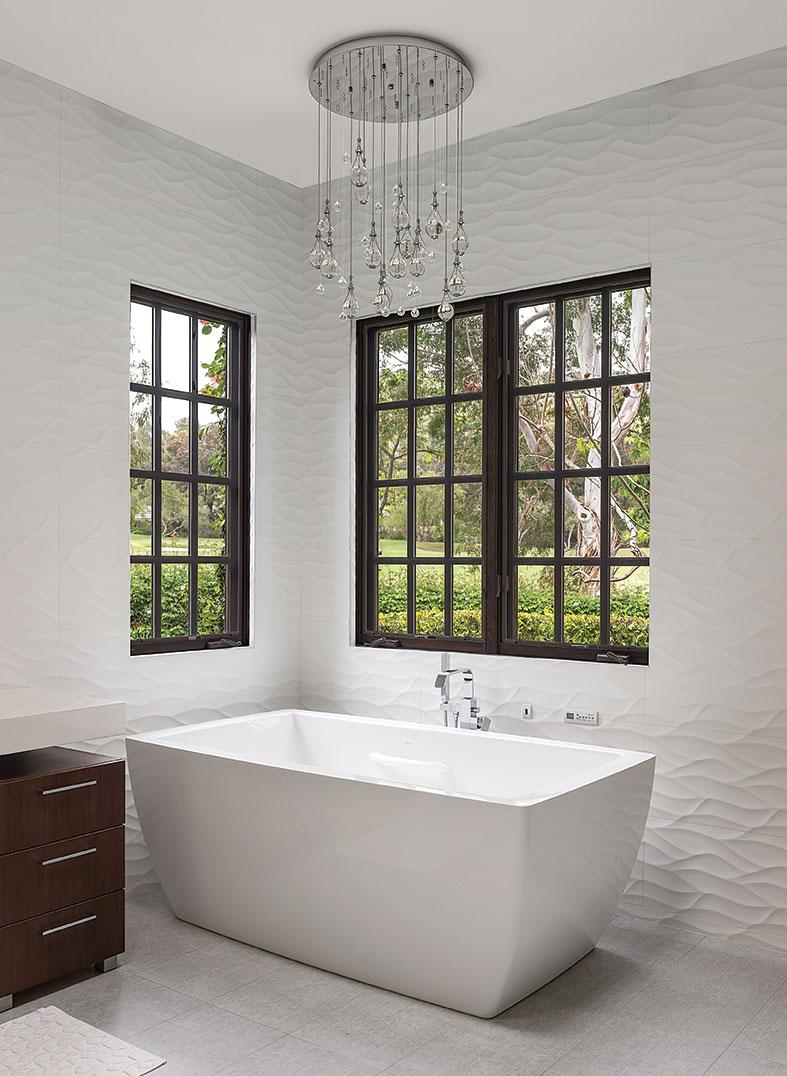 contemporary tuscan bathroom chandelier