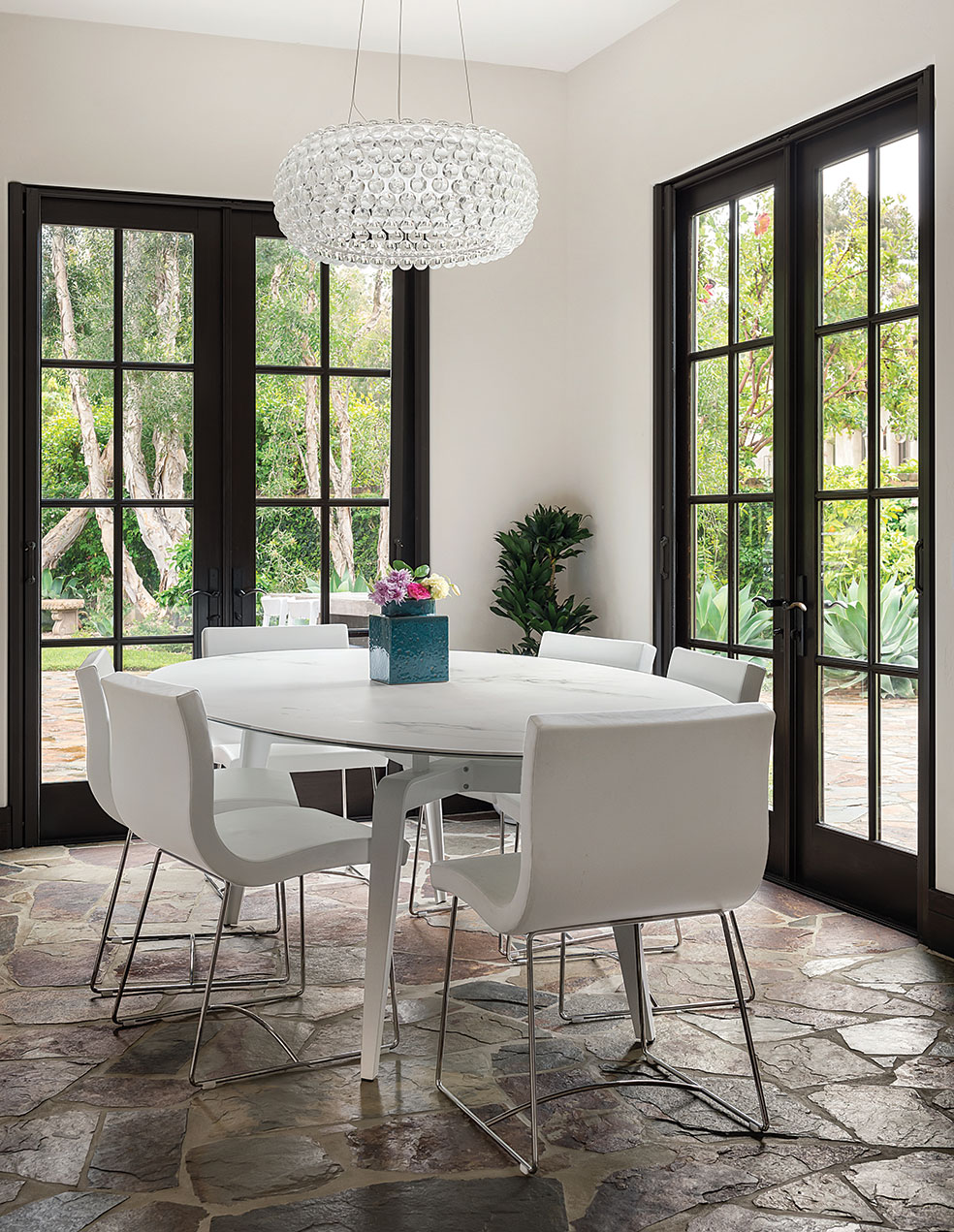 mario Lipparini Odessa table tuscan contemporary home dining room