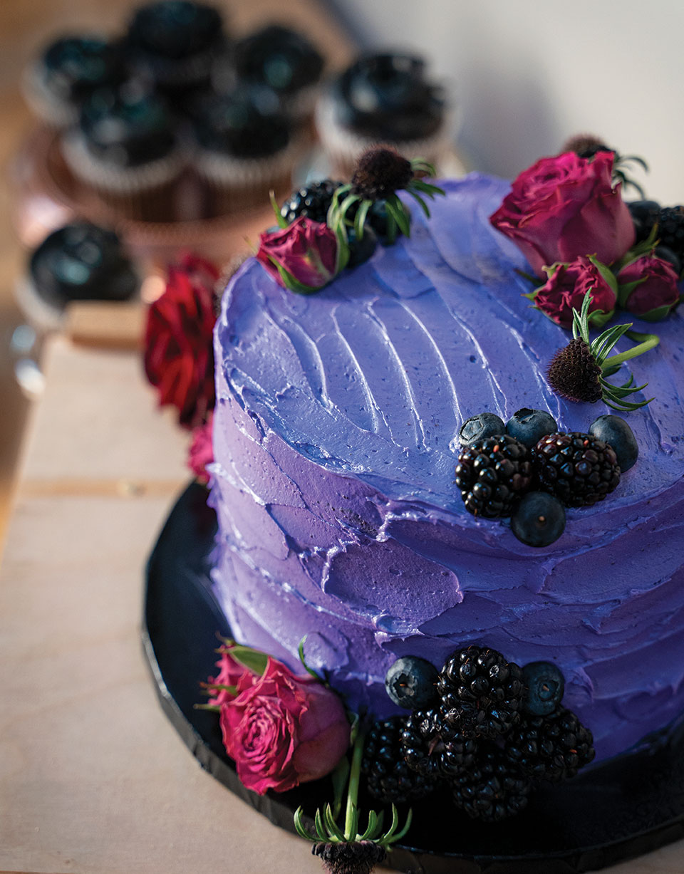 natural food dyes purple frosting icing