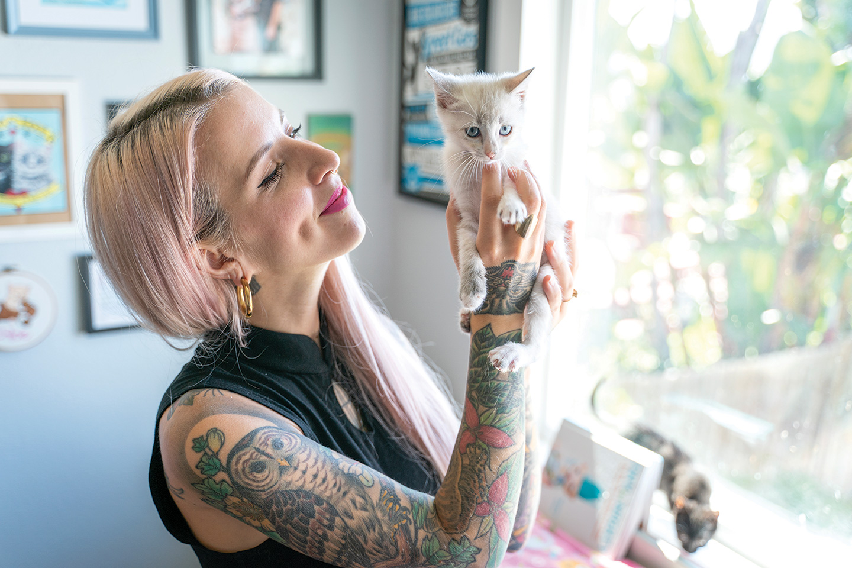 hannah shaw kitten lady kittens san diego foster