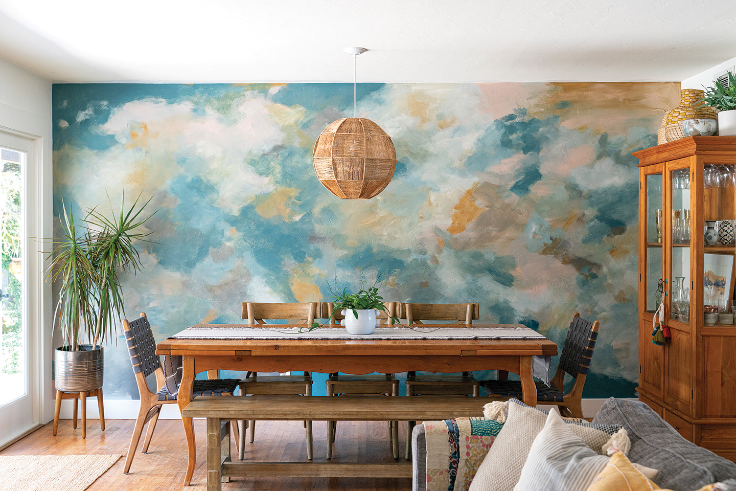 DIY abstract mural jennifer mchugh san diego