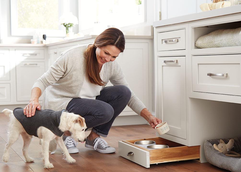 dixieline pet drawer cabinet kitchen