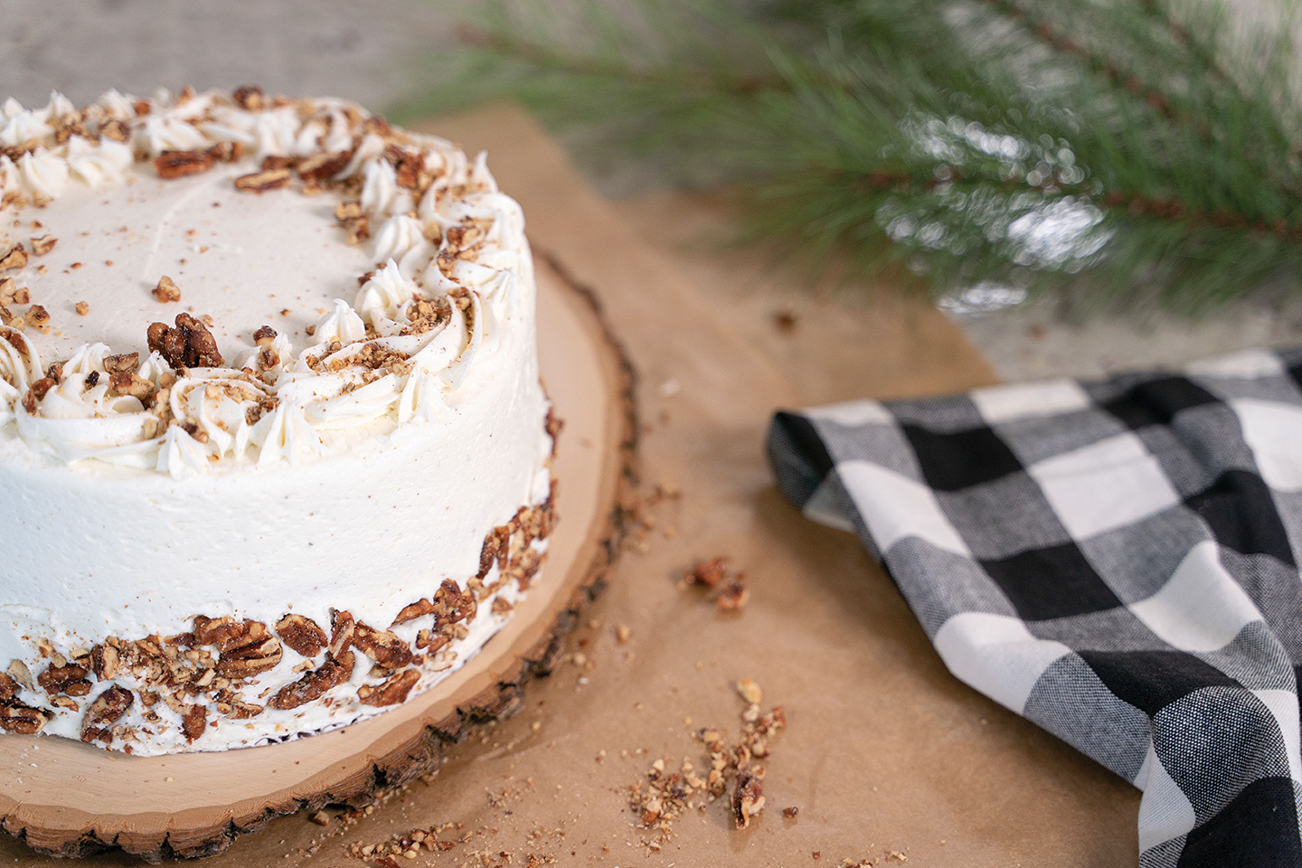 holiday cakes eggnog cake