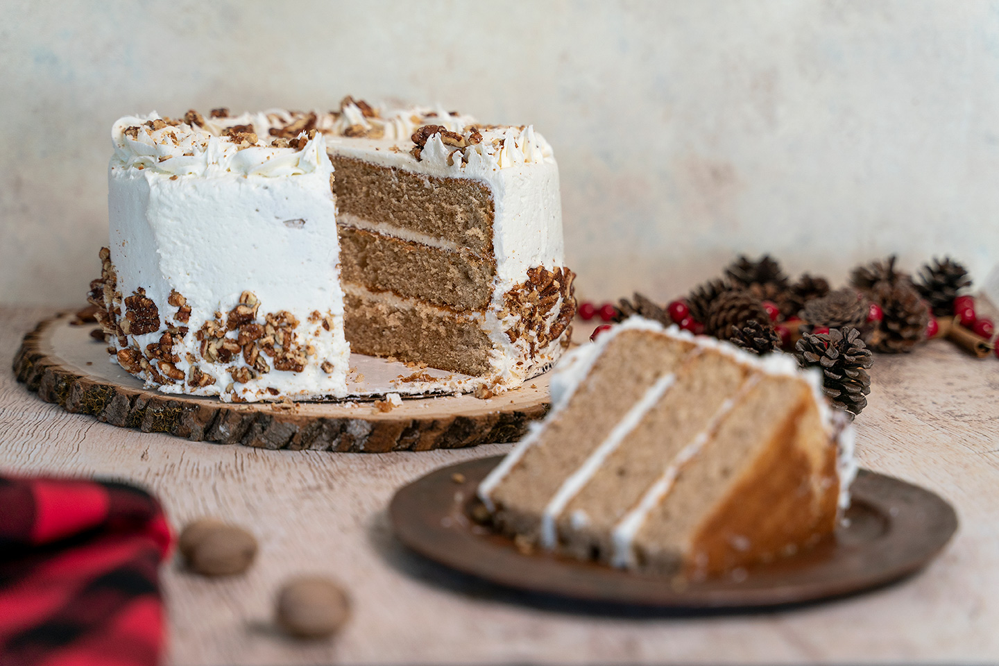 holiday cakes eggnog cake with rum simple syrup and eggnog frosting