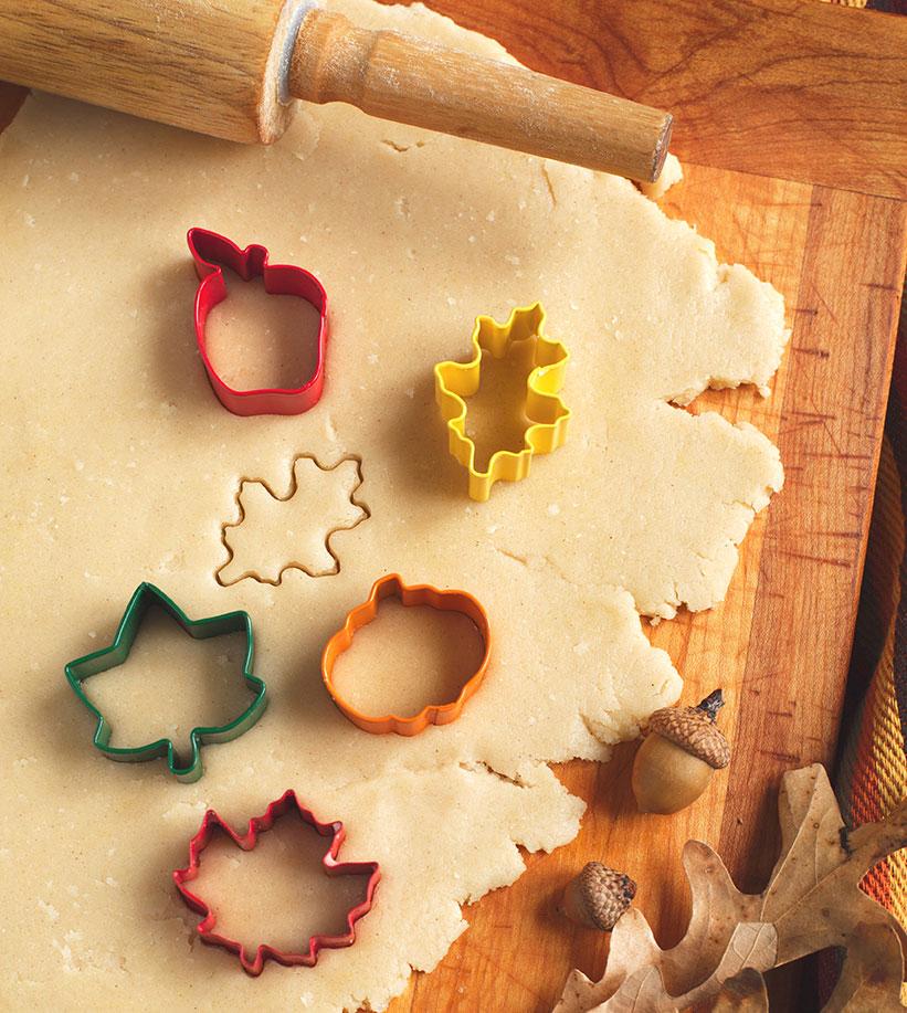 yam pie crust cookie cutters leaf motif