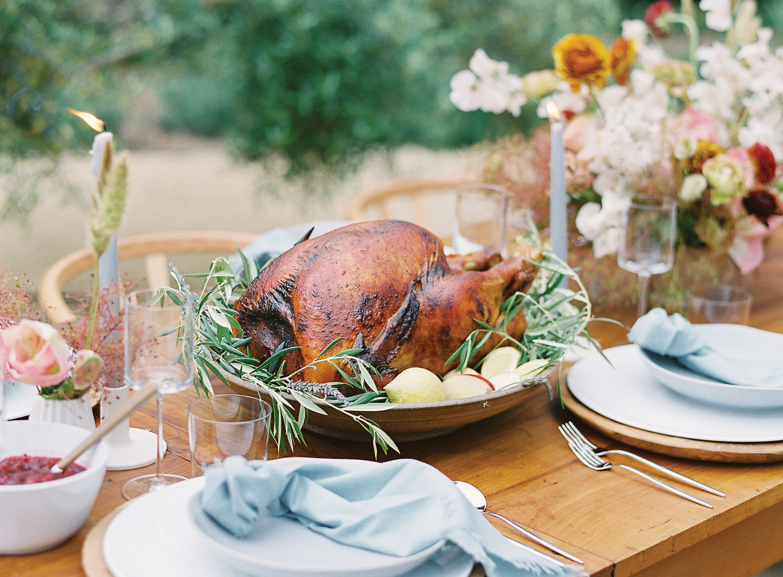 outdoor Thanksgiving woodfired turkey dani blasena